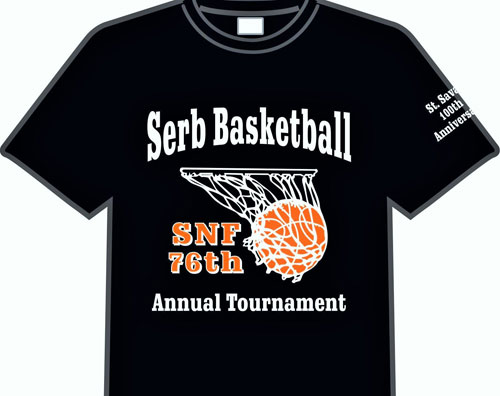 76th Annual SNF Basketball Tournament T-shirts $15
