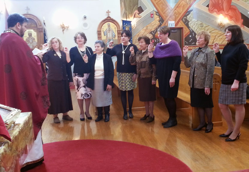 St. Sava Serbian Sisters Circle Executive Board takes oath of office
