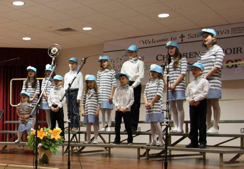 Children's Choir hosts luncheon, brief concert at St. Sava – Palm Sunday, Apr. 24