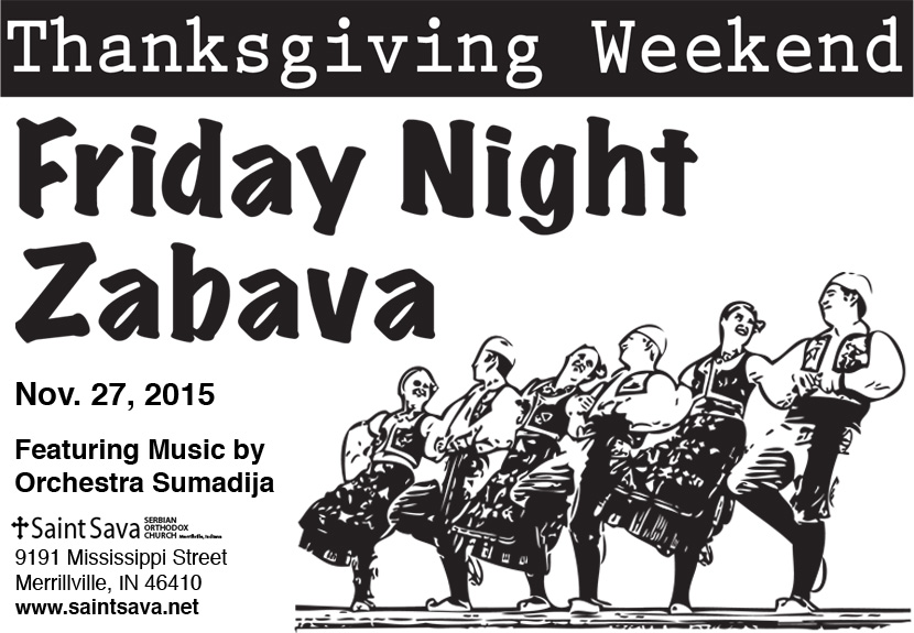 Friday Night Zabava – Thanksgiving Weekend – Save-the-Date – Nov. 27