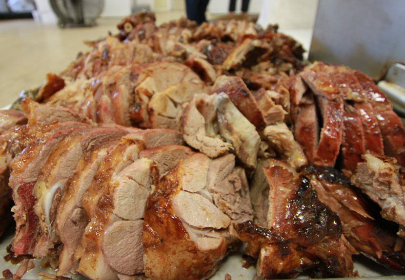 Pre-order lamb and pig by the pound at St. Sava for Orthodox Christmas