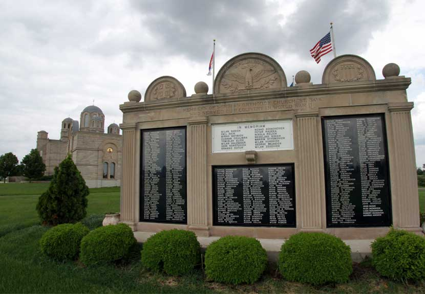 Father Marko of St. Sava offers Memorial Blessings at Calumet Park & Oak Hill Cemetery – Monday, May 30