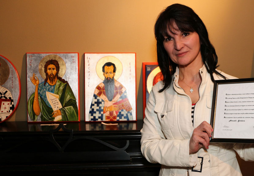 Byzantine style icon exhibition by Chicago area artist Gordana  Nenadovic – Sunday, Jan. 29