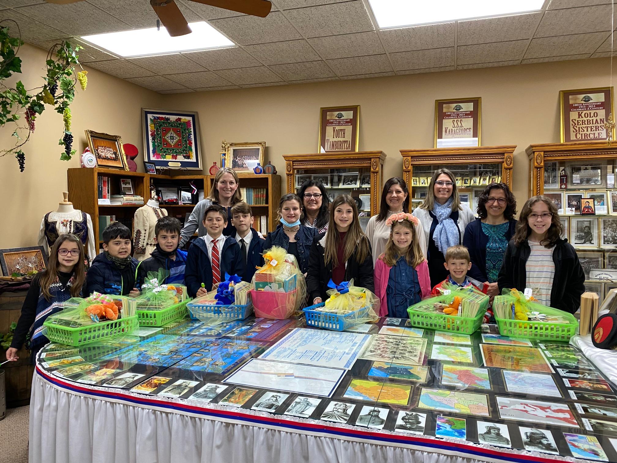 Historical Society presents gift baskets to Sunday School Scholars